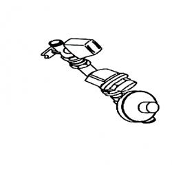Kit gaz propane comprenant 1 detendeur 1.5 bar/ 37 mbar, 1