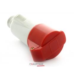 Prise electrique femelle 6 p mobile pour b22 / 63 a / 400v 3p+n+t+detrompeur avec securite a v