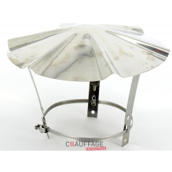 Chapeau de couverture inox diametre 153 pour flexible inox
