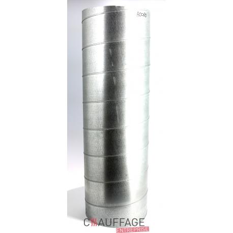 Gaine rigide galvanisee longueur 1 m - diametre 250 mm