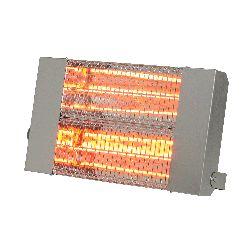 Chauffage infrarouge halogene a quartz puissance 3000 w carrosserie acier inoxydable brosse