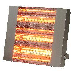 Chauffage infrarouge halogene a quartz puissance 4500 w carrosserie acier inoxydable brosse