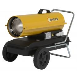 Chauffage direct air pulse mobile sur roues au fuel puissance 20 kw