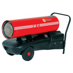 Chauffage direct air pulse mobile sur roues au fuel puissance 38,4 kw