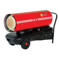 Chauffage direct air pulse mobile sur roues au fuel puissance 49 kw