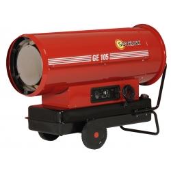 Chauffage direct air pulse mobile sur roues au fuel puissance 111,1 kw