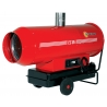 Chauffage indirect air pulse mobile sur roues au fuel puissance 90.6 kw