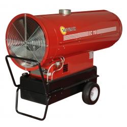 Chauffage indirect air pulse mobile sur roues au fuel grande capacite