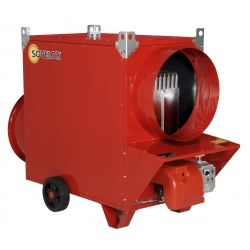 Chauffage mobile indirect gaz naturel air pulse avec bruleur 20 mbar riello puissance 133,7 k JUMBO135CG20R