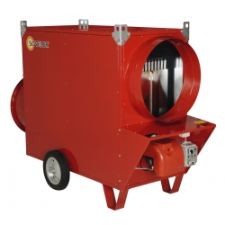 Chauffage mobile indirect gaz naturel air pulse avec bruleur 20 mbar riello puissance 174,4 k JUMBO175CG20R