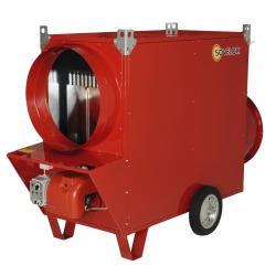 Chauffage mobile indirect gaz naturel air pulse avec bruleur 20 mbar riello puissance 220,9 k JUMBO220CG20R