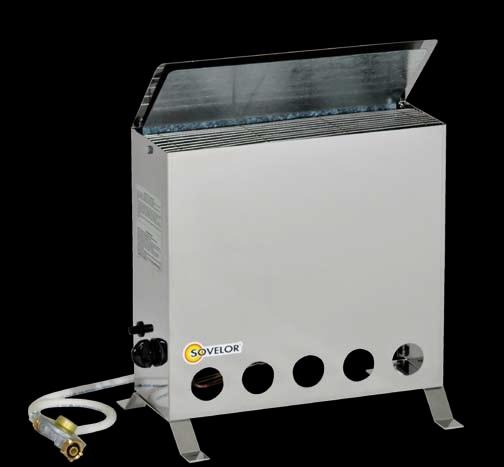 Convecteur thermostatique portable sovelor avec bruleur gaz propane - Chauffage avec bouteille de gaz ...
