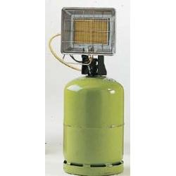 Radiant solor portable gaz butane avec allumeur piezo integre puissance reglable 2.37 a 4.17 kw