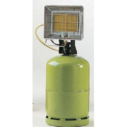 Radiant solor portable gaz propane avec allumeur piezo integre puissance reglable 2.37 a 4.17 kw