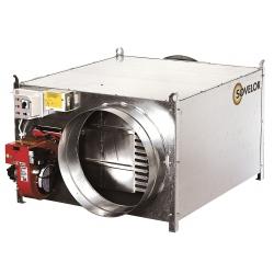 Chauffage air pulse a supendre avec bruleur gaz naturel 300 mbar