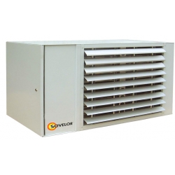 Aerotherme suspendu avec bruleur gaz naturel 20 mbar 28 kw centrifuge