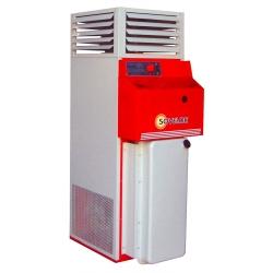 Chauffage fixe vertical air pulse avec bruleur fuel 34,8 kw
