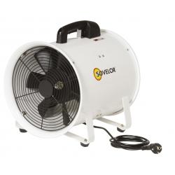 Ventilateur extracteur helicoide portable diametre 300 mm debit d'air 3900 m3/h -alimentation
