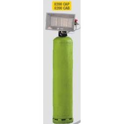 Radiant solor portable gaz butane avec allumeur piezo integre puissance reglable 8.2 kw Solor 8200CAB