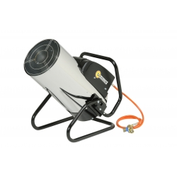 Chauffage air pulse orientable gaz propane puissance reglable 21.6 a 44.3 kw manuel