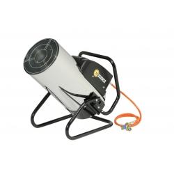 Chauffage air pulse orientable gaz propane puissance reglable 21.6 a 44.3 kw automatique
