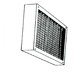Caisson de filtration air pour chauffage sovelor sf500 et dso465 avec filtre extractible