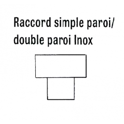 Raccord diam 300 inox simple paroi/double paroi de chauffage sovelor