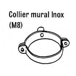 Support mural diametre 153 pour tuyaux simple paroi de chauffage sovelor