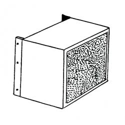 Caisson filtration air 1 face pour chauffage sovelor jumbo/farm175h