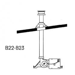 Kit cheminéee toiture simple pour GTS21C et 33C B22