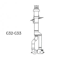 Kit ventouse toiture pour GTS21V 33V C32 montage pluie