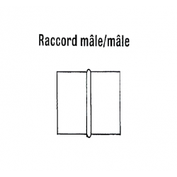 Raccord male/male diam 450 mm pour 2 gaines droites chauffage sovelor