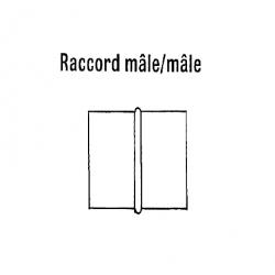 Raccord male/male diametre 710 mm pour 2 gaines droites chauffage sovelor
