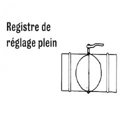 Registre de reglage plein diametre 315 pour chauffage sovelor