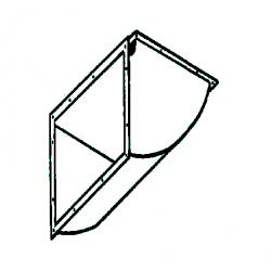 Plenum de soufflage galva 90° rectangulaire de chauffage sovelor sf45-70 dso60