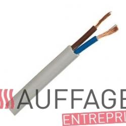 Cable electrique 2x1.00 mm² le mètre linéaire pour chauffage sovelor