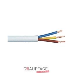 Cable electrique 3 g 1 mm² pour chauffage sovelor le mètre linéaire