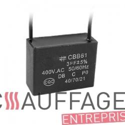 Condensateur 3 uf 400v pour chauffage sovelor 15000tx