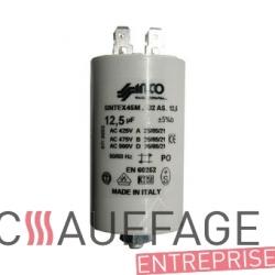 Condensateur 12.5 uf moteur ate108 pour chauffage sovelor ags75 ec65 ge85 ec70am ge90am