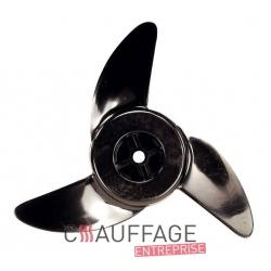 Helice diametre 450-33° pour chauffage sovelor ec65 et ge85 axe 13 mm