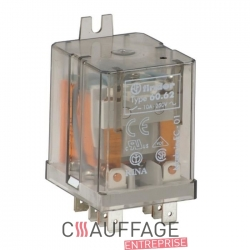 Relais finder pour chauffage sovelor ec/ge/am type 6012 circulaire