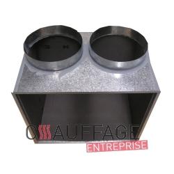 Plenum de soufflage 2 tetes pour chauffage sovelor sf45 et dso60
