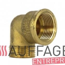 Raccord 90° 3/8 mx6 entree de filtre fuel de chauffage sovelor ec/ge