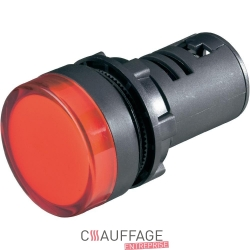 Lampe temoin rouge pour chauffage sovelor ags20-32-42-62
