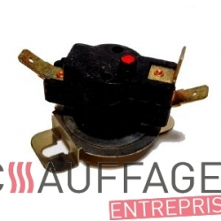Capsule thermostatique de ventilation de chauffage sovelor ec/ge fil blanc