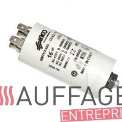 Condensateur 16 uf pour chauffage sovelor ec70-ec80-ge90/105 et gp100/115a