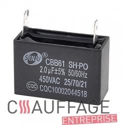 Condensateur 2 µf pour chauffage sovelor