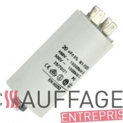 Condensateur 20 uf pour moteur ventilateur sovelor f58/70 sp70 v600