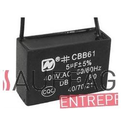 Condensateur 5 uf pour bruleur ecoflam de chauffage sovelor minor et ec/ge gp/ga