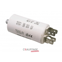 Condensateur 6,3 uf pour bruleur ecoflam de chauffage sovelor minor20 ec45